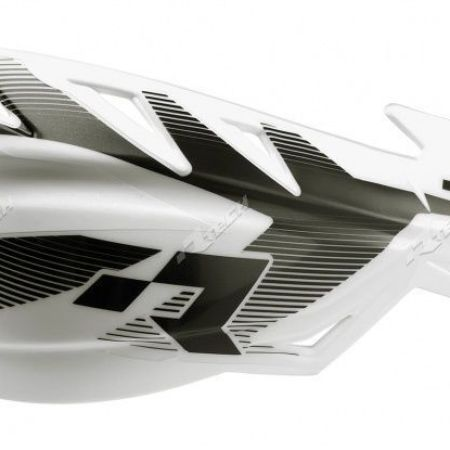 Coppia Paramani Motocross Racetech Raptor Bianco Universali Rtech Enduro Motard