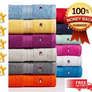 Tommy Hilfiger Bath Towel Collection 100% Cotton