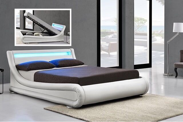 Ottoman King Size Bed Base With Led Lights And Remote Never Used Good