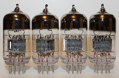 Matched Quad Sovtek 12AX7WC / 12AX7 / ECC83 tubes, low noise, NEW