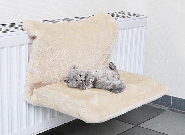 Plüsch Heizkörperliege Liegemulde Kuschelhöhle Hängematte Katzen 48x31cm