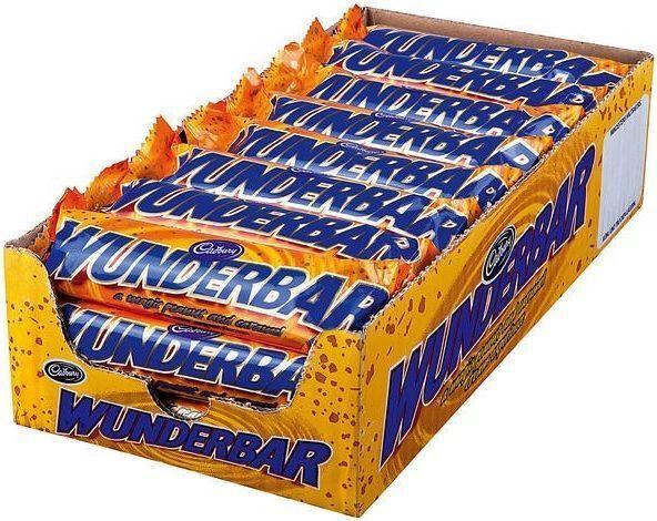 (1000g=11,90€) Cadbury Wunderbar - Peanut Butter Schokoriegel - 24 Riegel