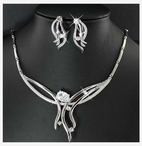 Silver Prom Jewelry Sets EBay
