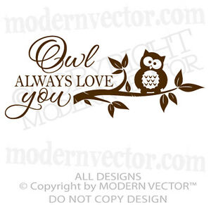 Download OWL-ALWAYS-LOVE-YOU-Vinyl-Wall-Decal-Lettering-Nursery ...