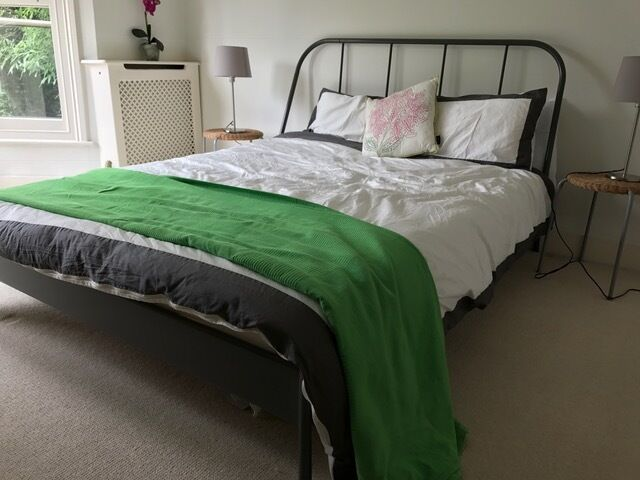 Ikea Kopardal Double Bed Frame And Morgedal Mattress