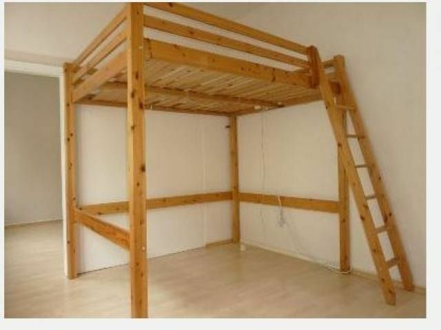 Real Wood IKEA STORA Double Loft Bed High Sleeper Cabin