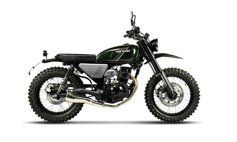 Hanway Scrambler 125 Motorcycle Cafe Racer Learner Legal In Stock Now