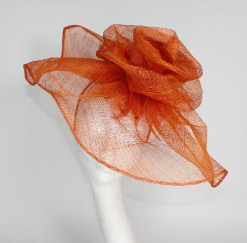 Burnt Orange Fascinator EBay