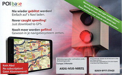 Radarwarner Blitzer Europa Navigationsgeräte TOMTOM Garmin Navigon iGo Becker