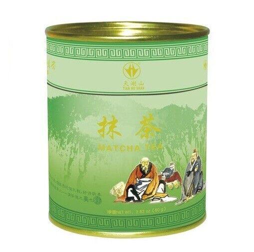 (8,73€/100g) [ 80g ] TIAN HU SHAN Grünteepulver MATCHA TEE Green tea powder  KV