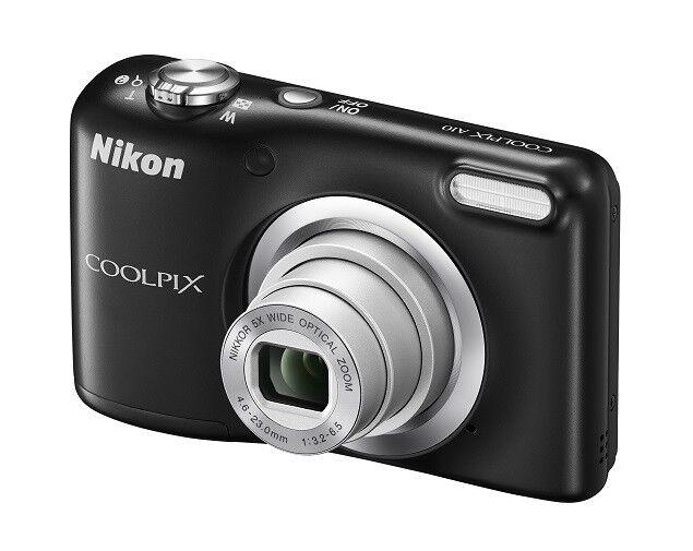 Kompaktkamera Nikon COOLPIX A10 KIT schwarz mit Tasche NEUWARE 5x Zoom 16.1MP