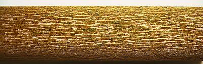 (Gp€4,56/m²) 2 x Gold Krepppapier Sondergröße 25x250cm Bastelkrepp Krepp