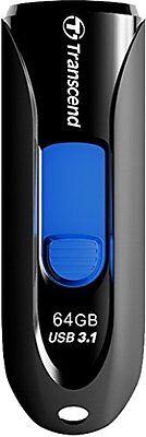 Transcend 64GB USB-Stick USB 3.1 schwarz Externe Geräte und Datenspeicher NEU