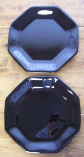 Black Octagon Plates EBay