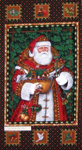 Santa Claus Fabric EBay