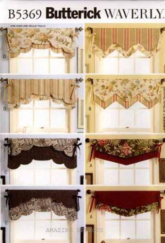 Trumpet Swag Window Treatment Patterns