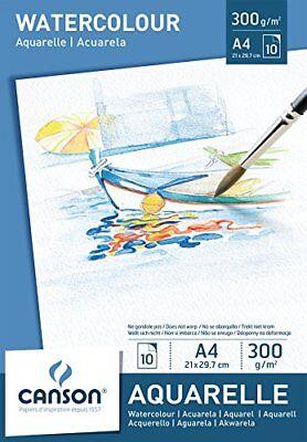 CANSON Aquarellpapier Block A4 300g/qm weiß Zeichenpapier 10Blatt Aquarellkarton
