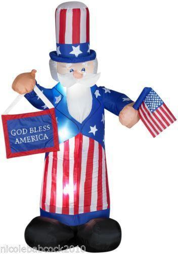 Uncle Sam Inflatable July 4th EBay