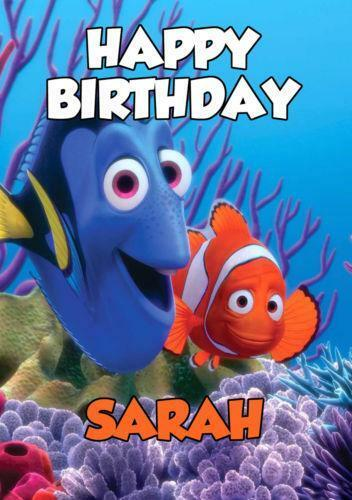 Finding Nemo Birthday Card EBay