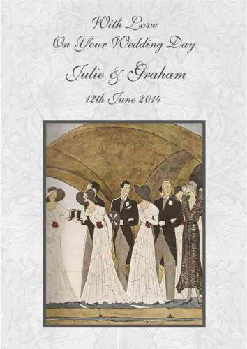 Art Deco Wedding Card EBay