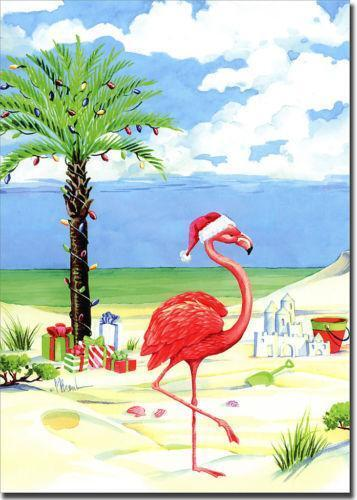 Flamingo Christmas Cards EBay