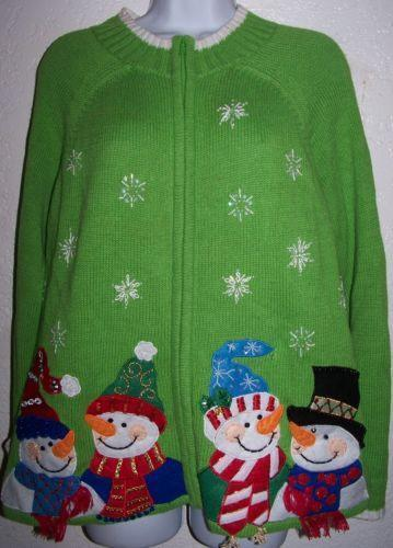 Ugly Christmas Sweater Snowman EBay