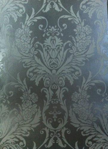 Silver Flock Wallpaper EBay