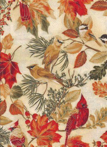 Cardinal Bird Fabric EBay