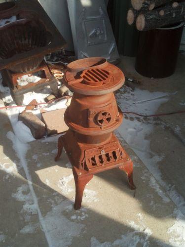 Stoves Wood Burning Iron Cast Pot Belly