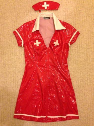 PVC Nurses Uniform Womens Fancy Dress EBay