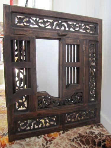 Wooden Mirror EBay
