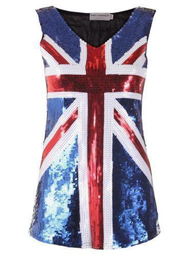Flag Sequin British Dress