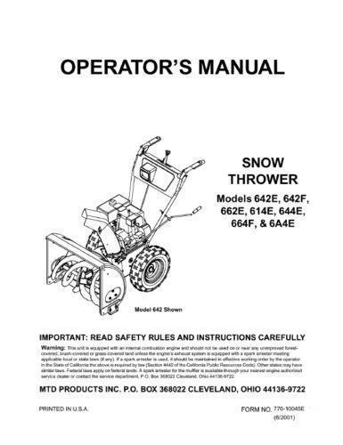 Gilson snowblower service manual ccuart Images