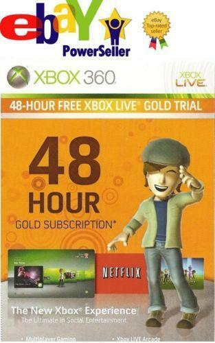 Xbox Live 48 Hour EBay