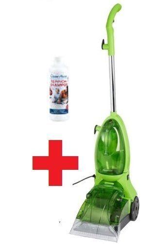 Clean Maxx Teppichreiniger (3 in1 Waschen, Reinigen, Absaugen) + Teppich-Shampoo