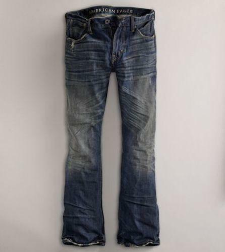 NWT American Eagle Mens Low Rise Boot Cut Jeans EBay