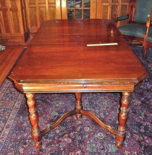 6 Chairs Walnut Style Table Jacobean Dining 1930