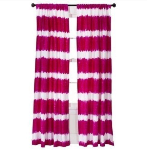 Dyed Purple Tie Curtains
