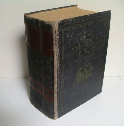 Century Dictionary Unabridged 1955 Second Edition Websters New Twentieth