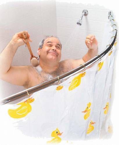 Curved Shower Curtain Rail Corner Bath