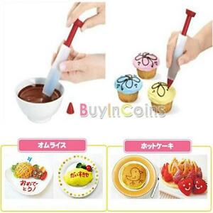 Silicone Biscuit Pastry Syringe Chocolate Decorating Pen Cookies Cup Cake Cream