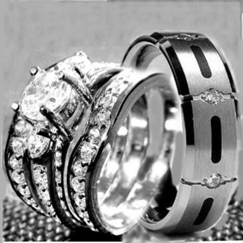 Cubic Zirconia Wedding Rings 8 EBay