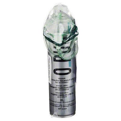 O PUR Sauerstoff Dose inkl.Maske u.Schlauch Spray 8l PZN 03044104