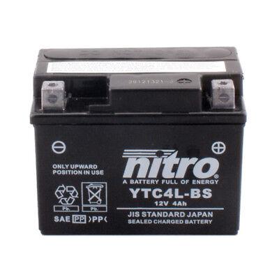 Motorrad Roller Batterie Nitro YTC4L-BS GEL, 12V/4AH 113x70x85mm wartungsfrei