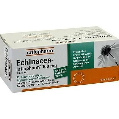 ECHINACEA RATIOPHARM 100mg Tabletten 50 St PZN: 3927157