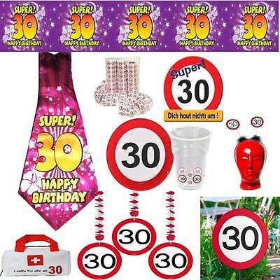 30. Geburtstag Geburtstagsdeko Partyzubehör Dekoration Verkehrsschild Deko