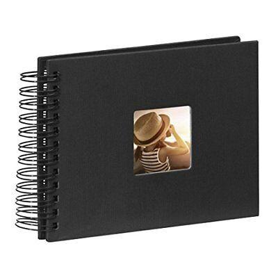Hama Fotoalbum Spiral schwarz 50 schwarze Seiten 24x17 Fenster Album Bilder Foto