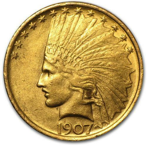 1907 Gold Coin 2 2 1 Dollar