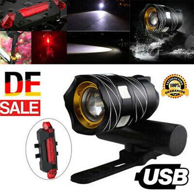 USB Fahrradlampe LED Fahrrad Licht Fahrradbeleuchtung Fahrad Scheinwerfer Lamp