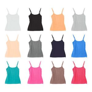 12-Pack Women's Sport Yoga Tank Top Undershirt Camisole Candy Colors